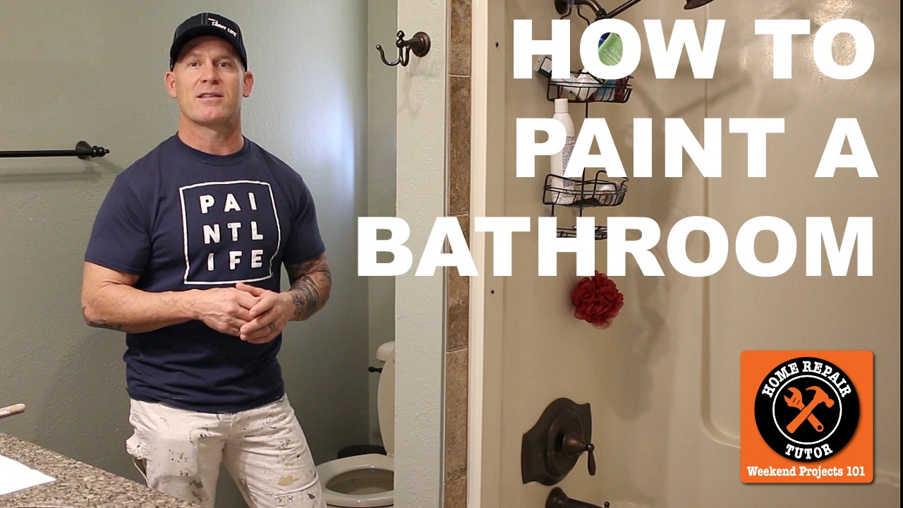 5 Quick Tips to Paint a Bathroom with The Idaho Painter -- by Home Repair Tutor