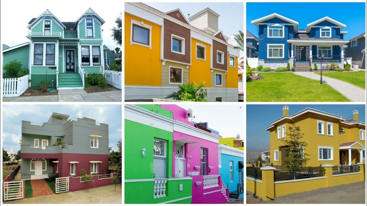 Exeteior Colour Combinations| House Painting Colours Outside | Exeteior House Painting Colour Ideas