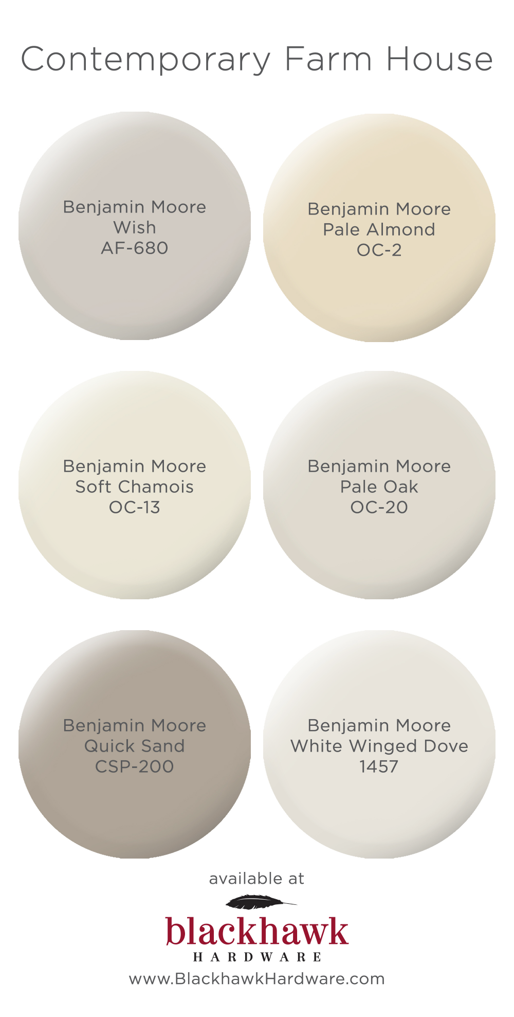 Paint Colors for Modern Farm House Interior Design