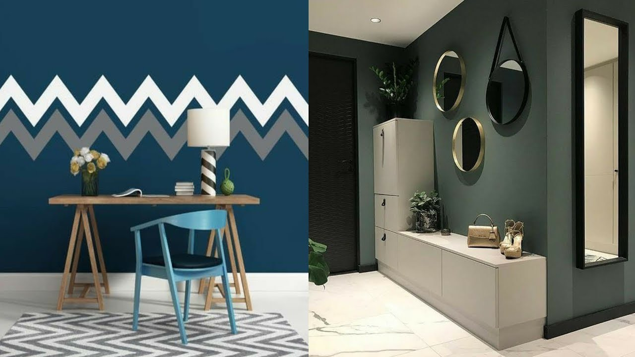 100 Wall paint ideas for modern home interior design 2020