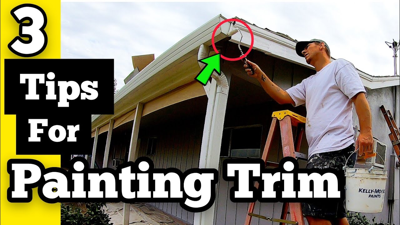 3 TIPS FOR PAINTING EXTERIOR TRIM BY HAND