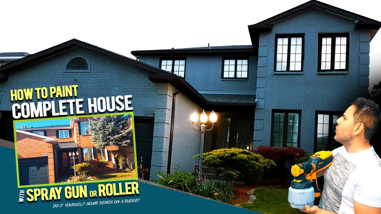 House Painting Transformation...Complete Guide on How to Paint A House Exterior like a Pro DIY