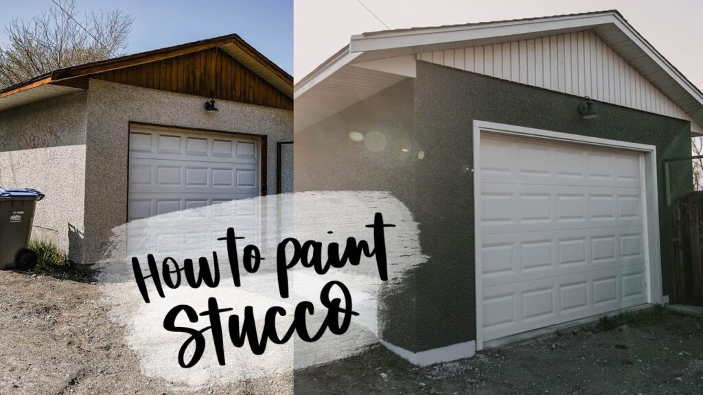 How To Paint Stucco Exterior   Detached Garage Makeover