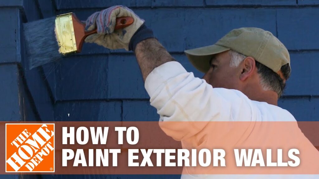 How to Paint Exterior Walls   The Home Depot