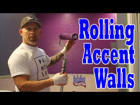 Instructions Painting Interior Accent Wall Colors.  Painting Purple Walls.