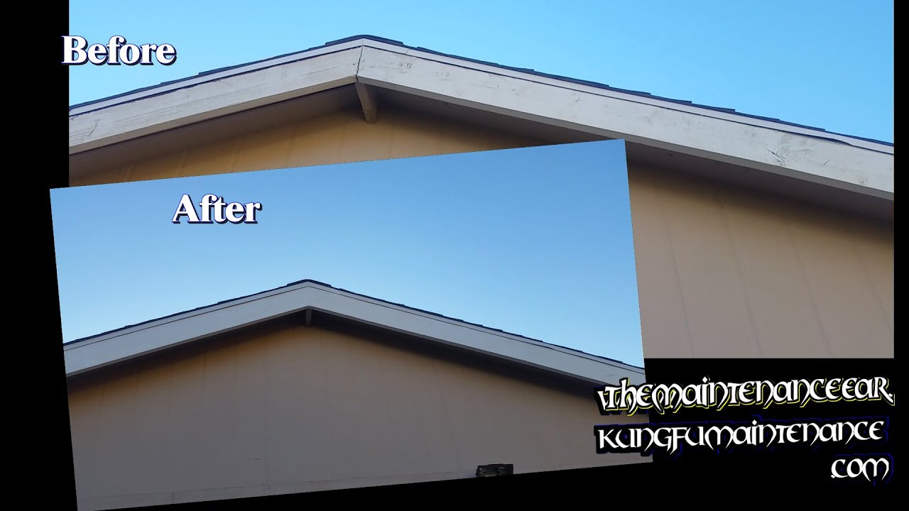 Painting House Exterior Trim Facia Boards How To Prep Paint Worn Cracking Nails Showing Through