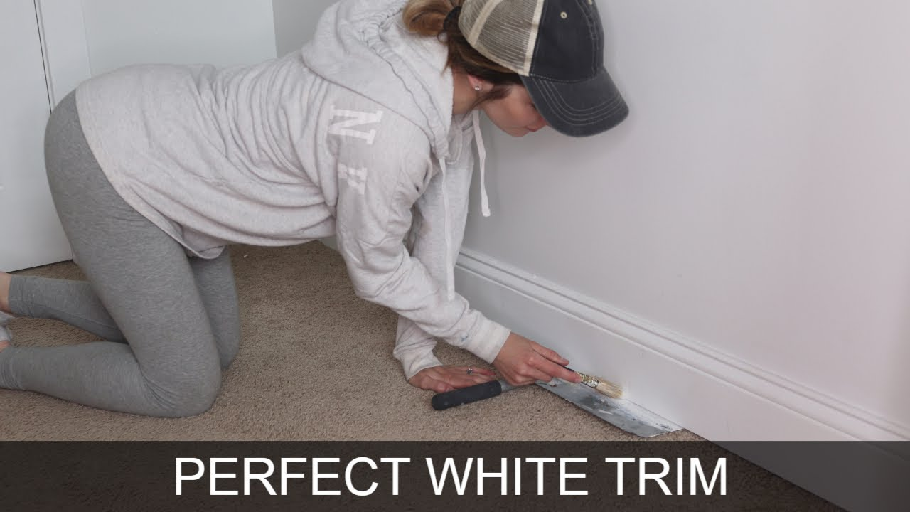 Secret To Perfect Painted White Trim   Baseboard and Window Molding Tips